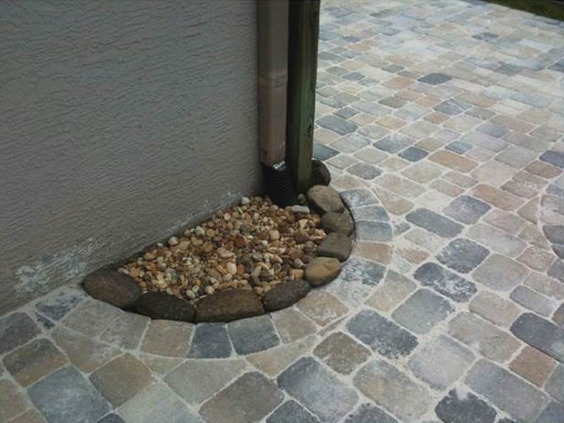 Ceramic creations gallery for Patio drainage